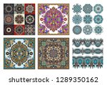 collection of seamless... | Shutterstock . vector #1289350162