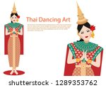 vector of woman thai...   Shutterstock .eps vector #1289353762