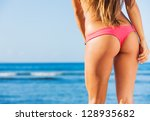 beautiful young woman in sexy... | Shutterstock . vector #128935682