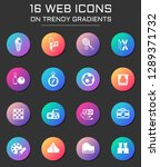 leisure icon set. leisure web... | Shutterstock .eps vector #1289371732
