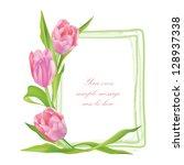 Flower Tulip Background. Flora...