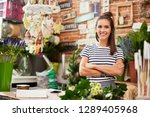 picture of young florist... | Shutterstock . vector #1289405968