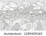 landscape of geometric elements ... | Shutterstock .eps vector #1289409265