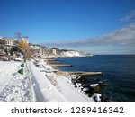 snow on the southern coast of... | Shutterstock . vector #1289416342
