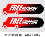 free delivery  icon vector | Shutterstock .eps vector #128944052