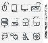 computer icon set vector | Shutterstock .eps vector #128944646