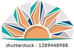 brown sun mosaic logo  | Shutterstock .eps vector #1289448988