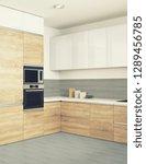 modern kitchen interior ... | Shutterstock . vector #1289456785