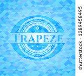 trapeze realistic sky blue... | Shutterstock .eps vector #1289458495