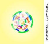cut logo circle | Shutterstock .eps vector #1289460352