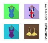 vector design of bikini and... | Shutterstock .eps vector #1289491795