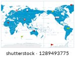 world map pacific centred and... | Shutterstock .eps vector #1289493775