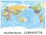 pacific centred world political ... | Shutterstock .eps vector #1289493778