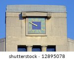 Art Deco Clock On Building In...