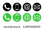 contact us icons. web icon set | Shutterstock .eps vector #1289508505