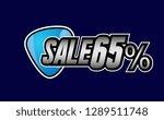 sale 65   beautiful greeting... | Shutterstock .eps vector #1289511748