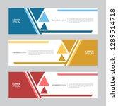banner. flat geometric shape ... | Shutterstock .eps vector #1289514718