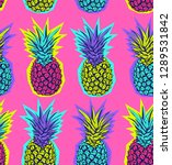 seamless exotic pattern. bright ... | Shutterstock .eps vector #1289531842