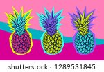 exotic bright colored tropical... | Shutterstock .eps vector #1289531845