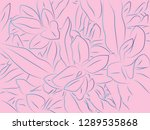 tropical floral pattern... | Shutterstock .eps vector #1289535868