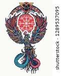 phoenix celtic style. magic... | Shutterstock .eps vector #1289537095