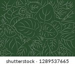 tropical floral pattern... | Shutterstock .eps vector #1289537665