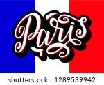 handwritten inscription paris...   Shutterstock . vector #1289539942
