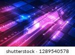 abstract futuristic digital... | Shutterstock .eps vector #1289540578