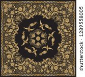 vector abstract bandana peacock ... | Shutterstock .eps vector #1289558005
