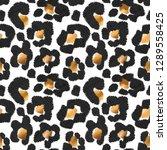 seamless exotic pattern. black... | Shutterstock .eps vector #1289558425