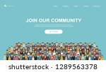 join our community. crowd of... | Shutterstock .eps vector #1289563378