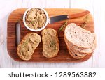 meat pate   duck mousse spread... | Shutterstock . vector #1289563882