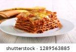 Slice Of Lasagna  On Plate...