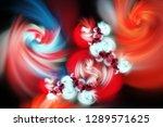 3d abstract fractal background. ...   Shutterstock . vector #1289571625