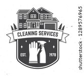 cleaning company badge  emblem. ... | Shutterstock .eps vector #1289576965
