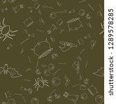 halloween seamless pattern... | Shutterstock .eps vector #1289578285