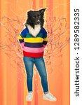 contemporary art collage full...   Shutterstock . vector #1289582335