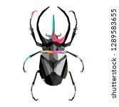 cockroach polygon art   Shutterstock .eps vector #1289583655