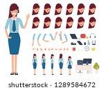 call center or customer service ... | Shutterstock .eps vector #1289584672