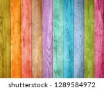 colored wood background | Shutterstock . vector #1289584972