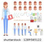 doctor woman character creation ... | Shutterstock .eps vector #1289585122