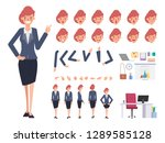 business woman character... | Shutterstock .eps vector #1289585128