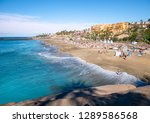 luxury beach on adeje coast of... | Shutterstock . vector #1289586568