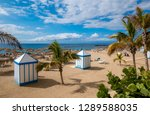 beautiful luxury beach on el... | Shutterstock . vector #1289588035