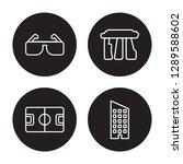 4 Linear Vector Icon Set  ...