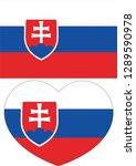 slovakia flag  heart vector ...   Shutterstock .eps vector #1289590978