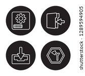4 linear vector icon set  ... | Shutterstock .eps vector #1289594905