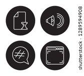 4 linear vector icon set  ... | Shutterstock .eps vector #1289594908