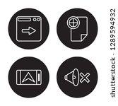 4 linear vector icon set   next ... | Shutterstock .eps vector #1289594932