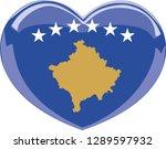 kosovo flag  heart vector ...   Shutterstock .eps vector #1289597932
